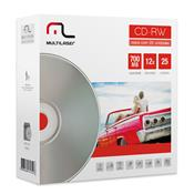 Mídia Cd-Rw Regravável 25 Unid Virgem Cd053 Multilaser