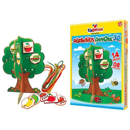 Alinhavos Árvore 3D 12 Peças 8 Cadarços 1203 Ciabrink