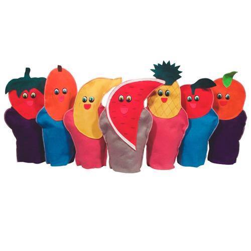 Fantoche Frutas 7 Personagens Em Feltro 1285 Ciabrink