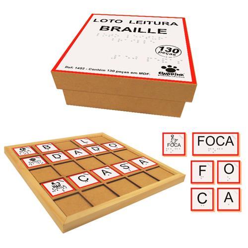 Loto Leitura Braille Madeira 130 Pçs Educativo 1452 Ciabrink