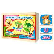 Jogo Educativo Alfabeto Ilustrado 78 Peças 1035 Ciabrink