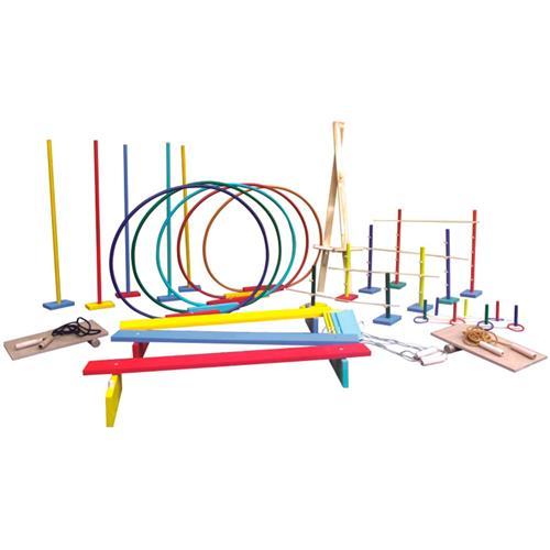 Madeira e Arcos Plásticos Linha Movimento 76 peças Ciabrink
