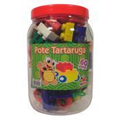 Pote Tartaruga 60 peças para Montar Plástico 1114 Ciabrink