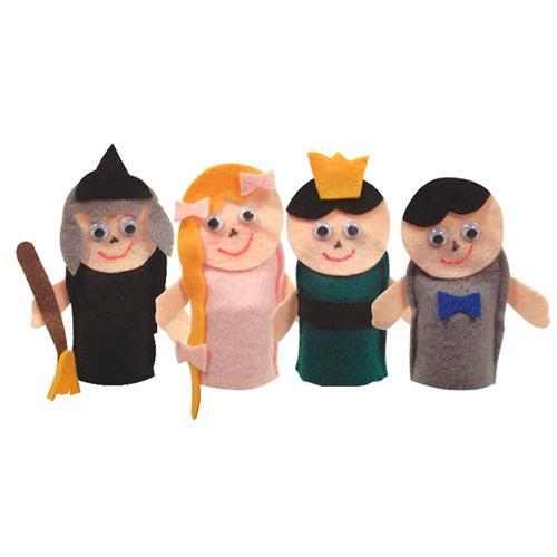 Fantoche Rapunzel Dedoche 4 peças Feltro 1430 Ciabrink