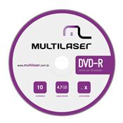 Midia Virgem Dvd -R Shrink 4.7Gb 10 Unidades Dv038 Multilaser