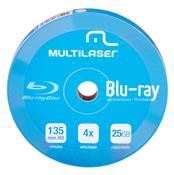 Mídia Virgem Dvd-R 4X Blu-Ray Imprimível 25Gb 10 Unid Dv057 Multilaser