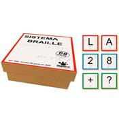 Sistema Braille Material Madeira 68 Peças 1242 Ciabrink