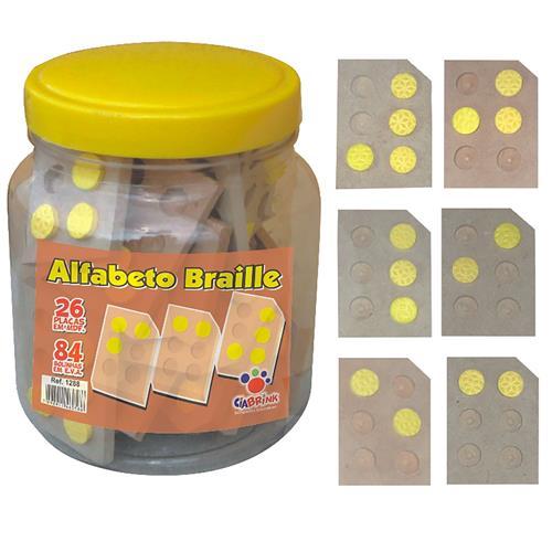 Alfabeto Braille Vazado 116 Peças 90 Bolinhas 1288 Ciabrink