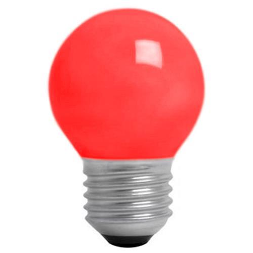 Lâmpada Bolinha 15W Vermelha E27 Bg45 Brasfort