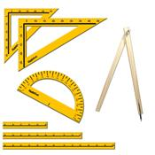 Kit Geométrico Professor 07 Peças Material Mdf 1282 Ciabrink