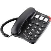 Telefone Com Fio Chave Bloqueadora Preto Tcf2300 Elgin