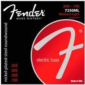Encordoamento Para Contrabaixo 4 Cordas Aço 0.45 7250Ml Fender