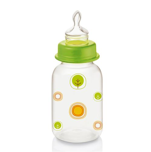 Mamadeira Nature Pp Verde Ortoflex 125Ml Bb113 Multikids