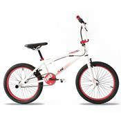 Bicicleta Pro X S10 Aro 20 Rígida 1 Marcha - Branco/vermelho