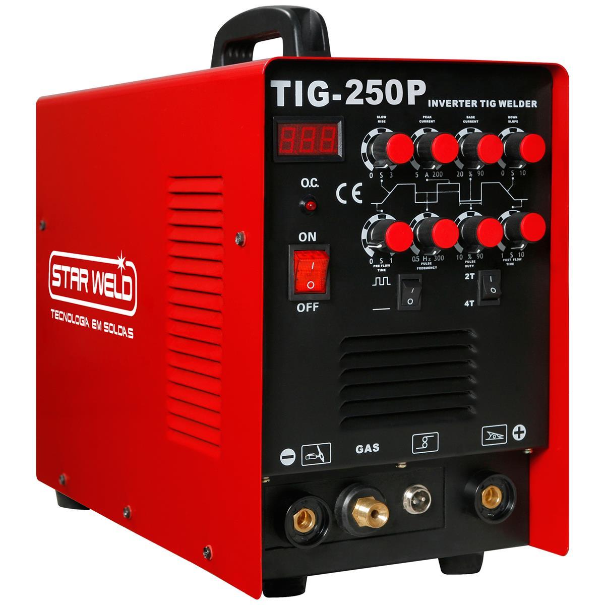 Máquina Inversora De Solda Tig Pulsada Tig 250P Starweld