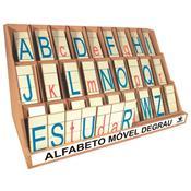 Alfabeto Móvel Degrau 130 Peças Em Mdf 1202 Ciabrink