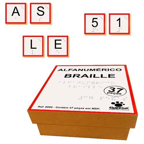 Alfanumérico Em Braille 37 Peças Mdf 1461 Ciabrink