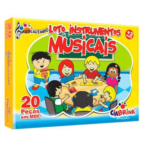 Loto Instrumentos Musicais 20 Peças Mdf 1361 Ciabrink