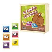 Alfabeto Silábico Educativo Mdf 165 Peças 1002 Ciabrink