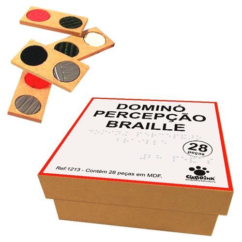 Jogo Dominó Percepção Braille 28 Peças 1213 Ciabrink