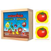 Jogo Da Memória Frutas Legumes 40 Peças 1016 Ciabrink