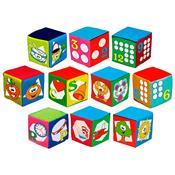 Conjunto Cubos Educativos Com Som 10 Peças 1181 Ciabrink