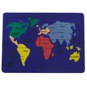 Mapa Mundi E.V.A. 24 Peças Formato Continentes 1313 Ciabrink