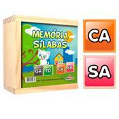 Jogo De Memória Sílabas De Madeira 40 Peças 1233 Ciabrink