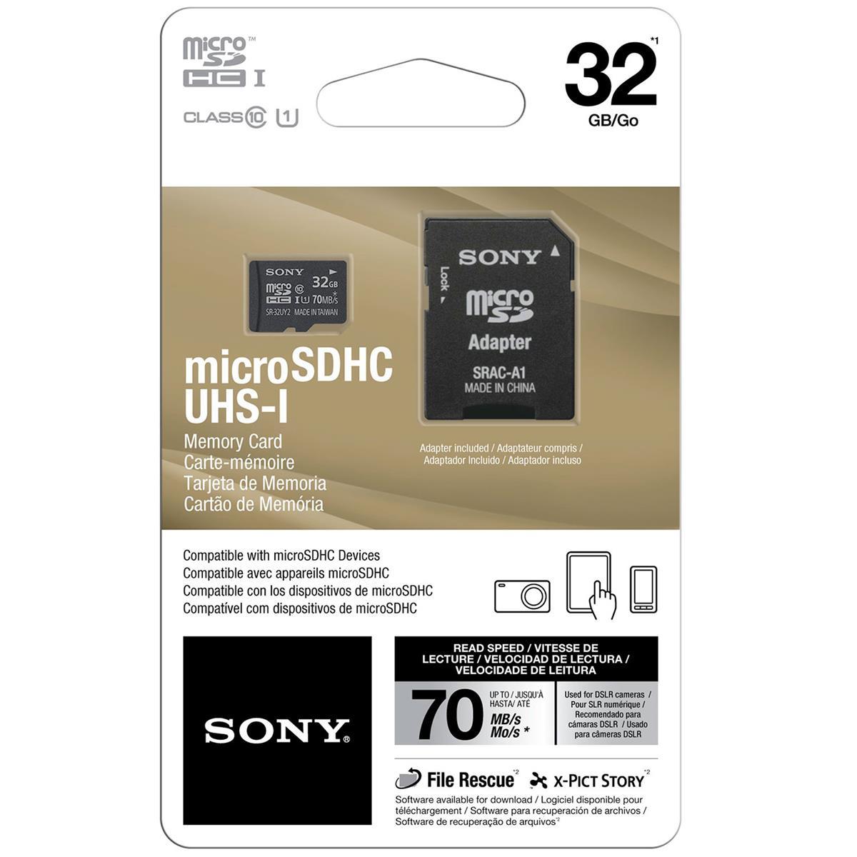 Cartão De Memória 32Gb Com Adaptador Preto Sra - A1c1032gb Sony