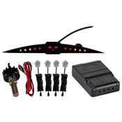 Sensor De Estacionamento Digital 4 Pontos Preto Rs204br Roadstar