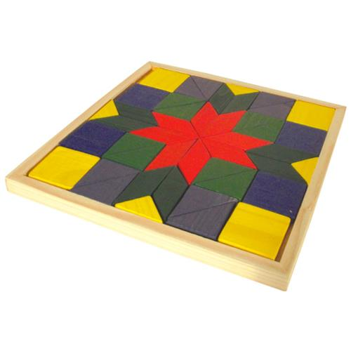 Mosaico Colorido 44 Peças Madeira Aprendizagem 1329 Ciabrink