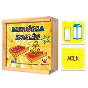 Jogo Memória Inglês Madeira Objetos 52 Peças 125 Ciabrink