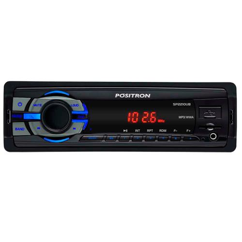 Mp3 Player Automotivo Wma Usb Sd Card P2 Sp-2210Ub Positron