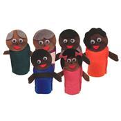 Fantoche Dedoche Família Negra 6 Peças 1426 Ciabrink