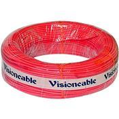 Cabo Pequeno Automotivo Flexível 100M Vermelho Vision Cable