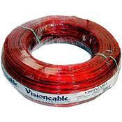 Cabo Automotivo Cristal 30Mm 100 Metros Vermelho Vision Cable