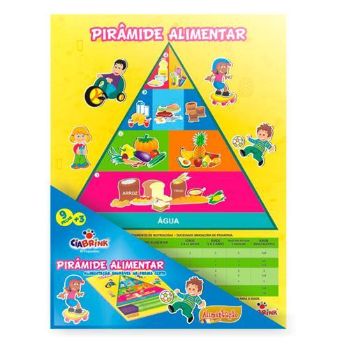 Pirâmide Alimentar 9 Peças De Madeira 1262 Ciabrink