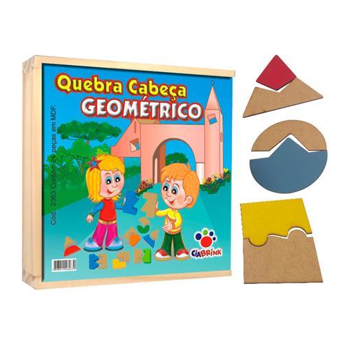 Quebra Cabeça Geométrico De 24 Peças 2363 Ciabrink