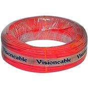 Cabo Flexível Automotivo 100 Metros Vemelho Vision Cable