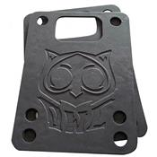 Kit Riser Pad Para Skate 1.5Mm Pu Preto Owl Sports