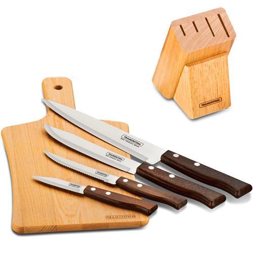 Conjunto De Facas Com Lâminas Em Aço Inox 22299038 Tramontina
