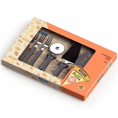 Conjunto Para Pizza 10 Peças Aço Inox 25099019 Tramontina