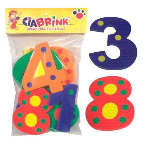 Brinquedo Educativo Numerais Com Pinos Em E.V.A Ciabrink