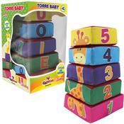 Torre Baby Educativa Espuma E Tecido 05 Peças Ciabrink