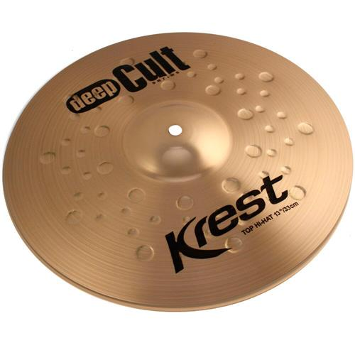 Pratos Bateria Medium Hihat 13 Pol Bronze B8 Deep Cult Krest