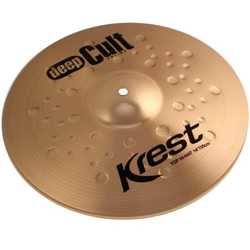 Pratos Bateria Medium Hi-Hat 14 Pol Bronze B8 Deep Cult Krest