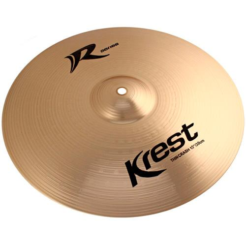 Prato Bateria Thin Crash 15 Pol Bronze B8 R Séries Krest