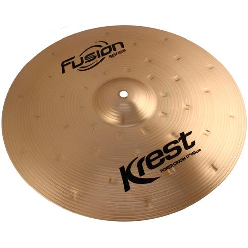 Prato Para Bateria Power Crash 17 Pol Bronze B8 Fusion Krest