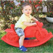 Moto Balanço Polietileno Colorido Alpha Brinquedos Vermelho