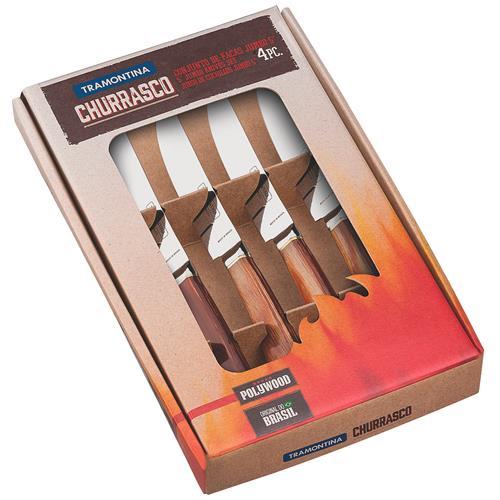 Kit De Facas Jumbo Para Churrasco 4 Pçs 21599455 Tramontina